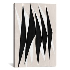 Modern Art Zebra Print Tribal Paint Graphic Art on Canvas