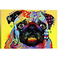 Pug by Dean Russo Graphic Art on Canvas