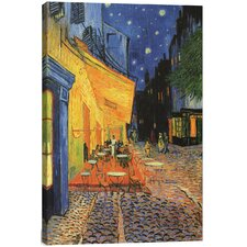 The Cafe Terrace on the Place du Forum, Arles, at Night 1888 by Vincent Van Gogh Painting Print on Canvas