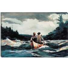 """Canoe in The Rapids 1897"" Canvas Wall Art by Winslow Homer"