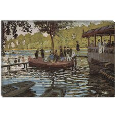 """La Grenouillere 1869"" Canvas Wall Art by Claude Monet"