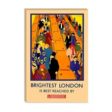 <strong>iCanvasArt</strong> Brightest London is Best Reached by Underground Advertising Vintage Poster