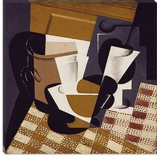 "<strong>iCanvasArt</strong> ""Broc et Verre (Wine Jug and Glass)"" Canvas Wall Art by Juan Gris"