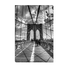 "<strong>iCanvasArt</strong> ""Brooklyn Bridge II (New York City)"" Canvas Wall Art by Christopher Bliss"