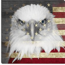 <strong>iCanvasArt</strong> Bald American Eagle Canvas Wall Art