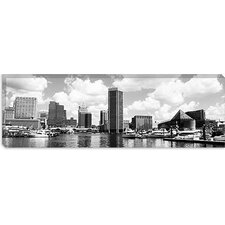 <strong>iCanvasArt</strong> Baltimore Panoramic Skyline Cityscape Canvas Wall Art
