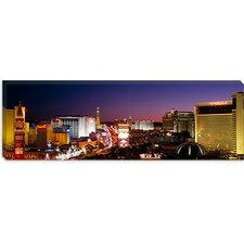 <strong>iCanvasArt</strong> Buildings Lit Up At Night, Las Vegas, Nevada, Canvas Wall Art