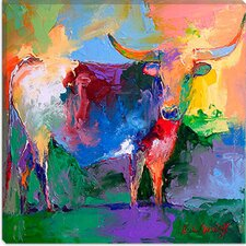 "<strong>iCanvasArt</strong> ""Bull"" Canvas Wall Art By Richard Wallich"