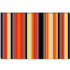 <strong>iCanvasArt</strong> Burning Rassberyy Black Orange Striped Art Canvas Wall Art