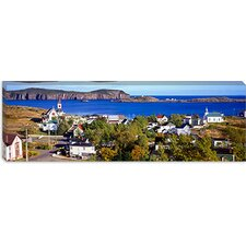 Buildings at The Coast, Trinity Bay, Trinity, Newfoundland Island, Newfoundland and Labrador Province, Canada Canvas Wall Art