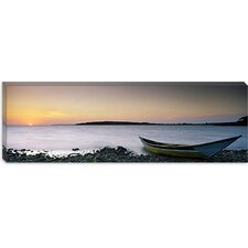 <strong>iCanvasArt</strong> Boat at the Lakeside, Lake Victoria, Great Rift Valley, Kenya Canvas Wall Art