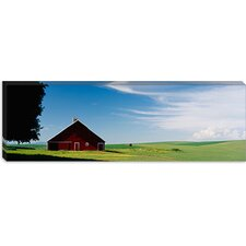 <strong>iCanvasArt</strong> Barn in a Wheat Field, Washington Canvas Wall Art