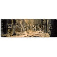 <strong>iCanvasArt</strong> Bas Relief in a Temple in Angkor Wat, Cambodia Canvas Wall Art