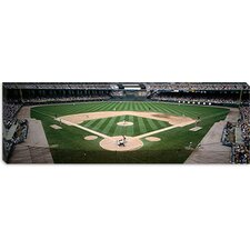 Baseball Match at U.S. Cellular Field in Chicago, Illinois Canvas Wall Art