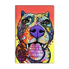 "<strong>iCanvasArt</strong> ""Bark Dont Bite"" Canvas Wall Art by Dean Russo"