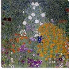 "<strong>iCanvasArt</strong> ""Bauerngarten (Flower Garden)"" Canvas Wall Art by Gustav Klimt"