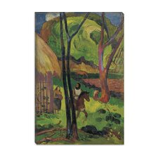 "<strong>iCanvasArt</strong> ""Cavalier Devant La Case 1902"" Canvas Wall Art by Paul Gauguin"