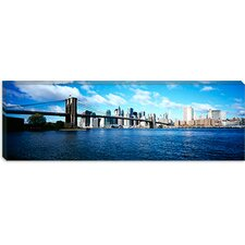 Brooklyn Bridge, East River, Manhattan, New York City, New York State Canvas Wall Art