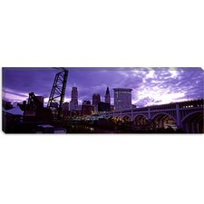 <strong>iCanvasArt</strong> Detroit Avenue Bridge, Cleveland, Ohio Canvas Wall Art
