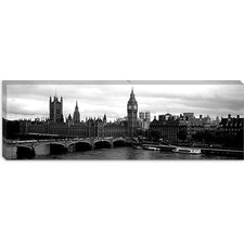 Westminster Bridge, Houses of Parliament, City of Westminster, London, England Canvas Wall Art