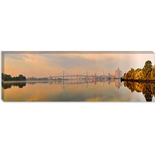 Benjamin Franklin Bridge, Delaware River, Philadelphia, Pennsylvania Canvas Wall Art