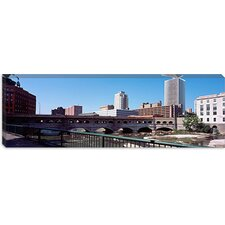 Bridge Across the Genesee River, Rochester, Monroe County, New York State 2011 Canvas Wall Art