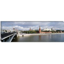 Bolshoy Kamenny Bridge, Grand Kremlin Palace, Moskva River, Moscow, Russia Canvas Wall Art