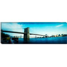 Brooklyn Bridge, East River, Brooklyn, New York City, New York State Canvas Wall Art