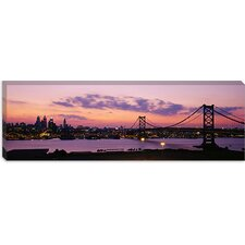 Ben Franklin Bridge, Philadelphia, Pennsylvania Canvas Wall Art