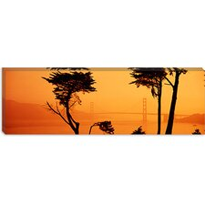 Bridge Over Water, Golden Gate Bridge, San Francisco, California Canvas Wall Art