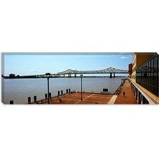 Crescent City Connection Bridge, Mississippi River, New Orleans, Louisiana Canvas Wall Art