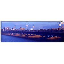 Longfellow Bridge, Charles River, Boston, Suffolk County, Massachusetts Canvas Wall Art