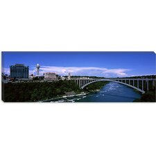 Rainbow Bridge, Niagara River, Niagara Falls, New York State Canvas Wall Art