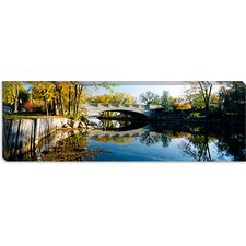Bridge Across a River, Yahara River, Madison, Dane County, Wisconsin Canvas Wall Art