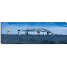 Francis Scott Key Bridge, Patapsco River, Baltimore, Maryland Canvas Wall Art