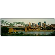 Bridge Across the River, Kansas City, Missouri Canvas Wall Art