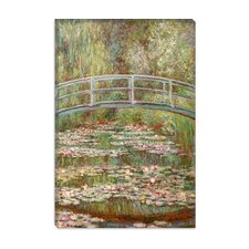 """Bridge Over a Pond of Water Lilies 1899"" Canvas Wall Art by Claude Monet"