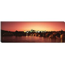 <strong>iCanvasArt</strong> Charles Bridge, St. Vitus Cathedral, Hradcany Castle, Prague, Czech Republic Canvas Wall Art