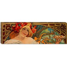 """Biscuits Lefevre Utile"" Canvas Wall Art by Alphonse Mucha (Panoramic)"