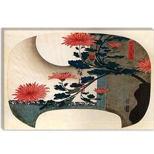 "<strong>iCanvasArt</strong> ""Chrysanthemums"" Canvas Wall Art by Utagawa Hiroshige l"