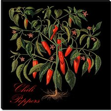 "<strong>iCanvasArt</strong> ""Chili Peppers"" Canvas Wall Art by Mindy Sommers"