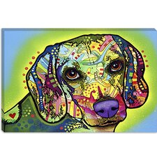 "<strong>iCanvasArt</strong> ""Beagle"" Canvas Wall Art by Dean Russo"