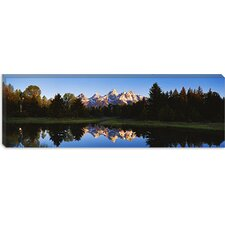 <strong>iCanvasArt</strong> Beaver Pond Grand Teton National Park, Wyoming Canvas Wall Art