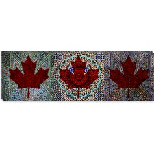<strong>iCanvasArt</strong> Canadian Flag, Red Maple Leaf Panoramic #2 Canvas Wall Art