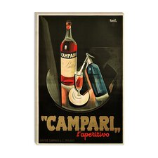 "<strong>iCanvasArt</strong> ""Campari Aperitivo Advertising"" Vintage Poster by Marcello Nizzoli"