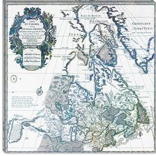 <strong>iCanvasArt</strong> Canada Vintage Map, 1730 #3 Canvas Wall Art