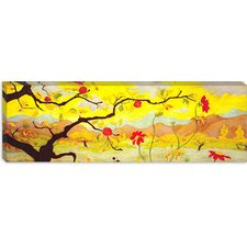 """Apple Tree with Red Fruit"" Canvas Wall Art by Paul Ranson (Panoramic)"