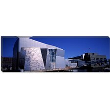 <strong>iCanvasArt</strong> Buildings at the Waterfront, New England Aquarium, Boston Harbor, Suffolk County, Massachusetts Canvas Wall Art