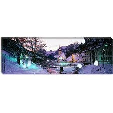 Church on a Snow Covered Hill, Rothenburg, Bavaria, Germany Canvas Wall Art