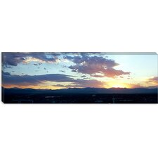 <strong>iCanvasArt</strong> City at The Sunrise, Denver, Colorado Canvas Wall Art